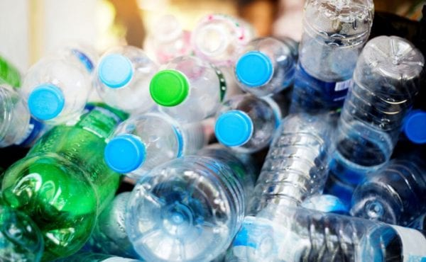 pile of empty plastic water bottles