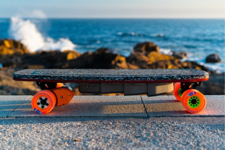 skateboard made out of recycled plastic