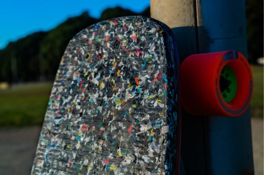 skateboard deck made out of recycled plastic