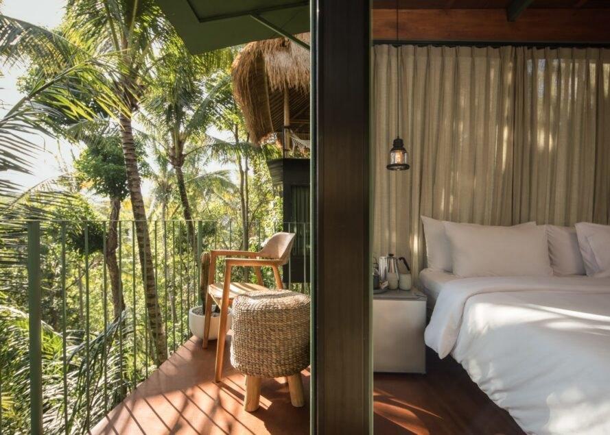 outdoor deck leading into bedroom